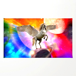 Pegasus in Outer Space rug