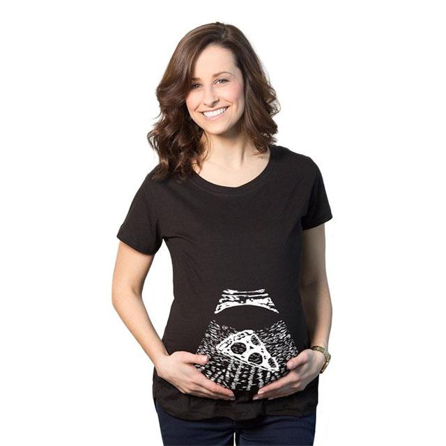 Pizza Baby Maternity Shirt