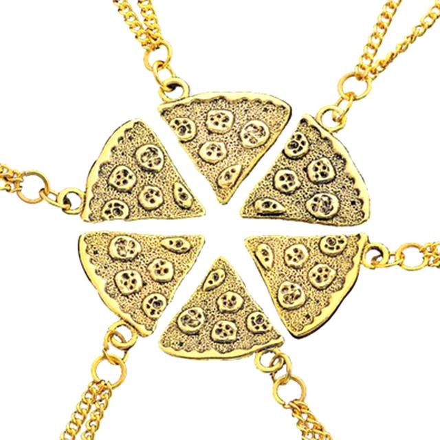 Pizza Pendant Friendship Necklaces