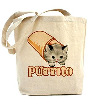 Purrito Tote Bag