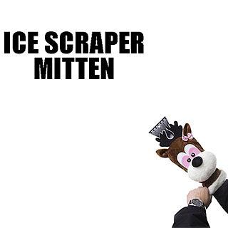 Reindeer Ice Scraper Mitten
