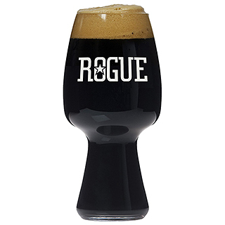 Rogue Brewery Stout Beer Glasses