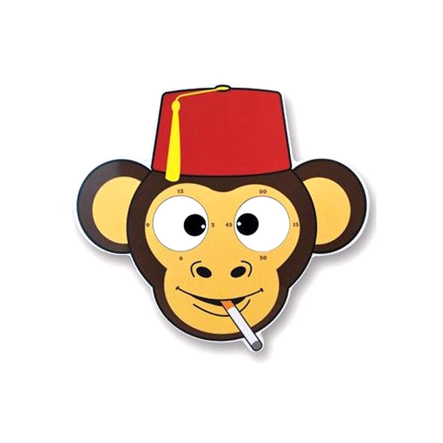 Smoking Monkey clock