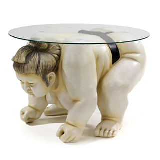 Sumo Wrestler End Table