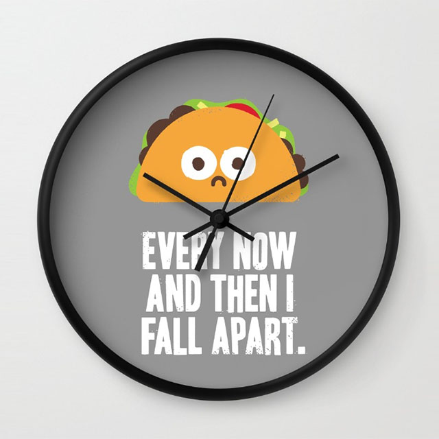 Taco Eclipse of the Heart clock