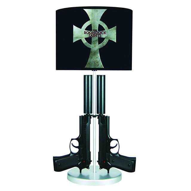 The Boondock Saints Twin Guns Lamp