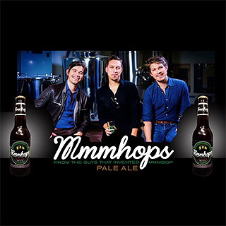 The Hanson Brothers now brew their own beer. It is called Mmmhops.