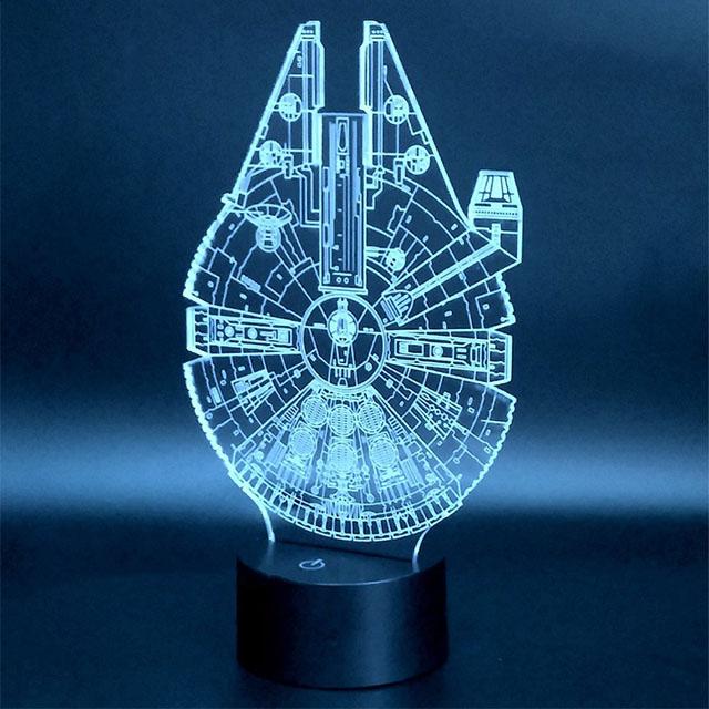Translucent Millennium Falcon Lamp