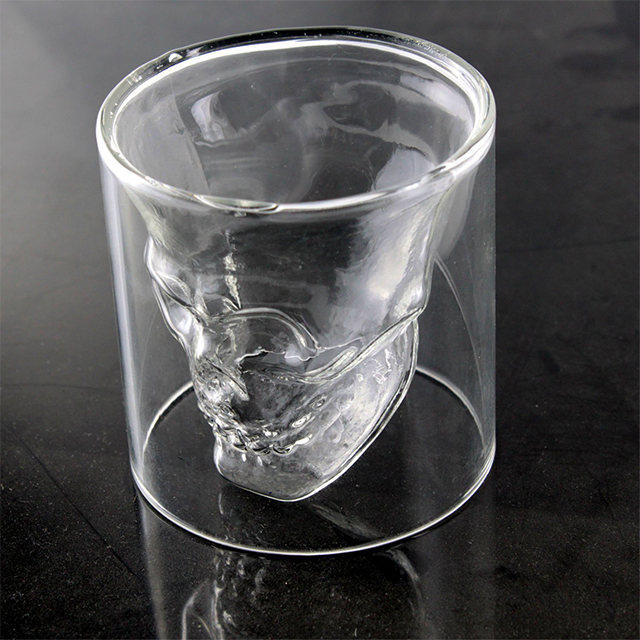 Translucent Skull Shot Glass