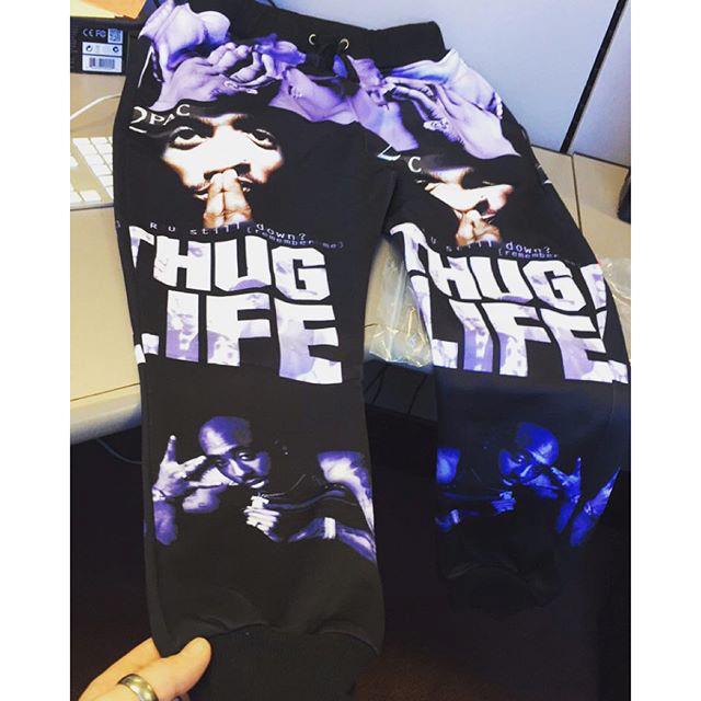"Tupac Shakur""Thug Life"" sweatpants"