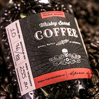Whiskey Barrel-Aged Coffee Beans