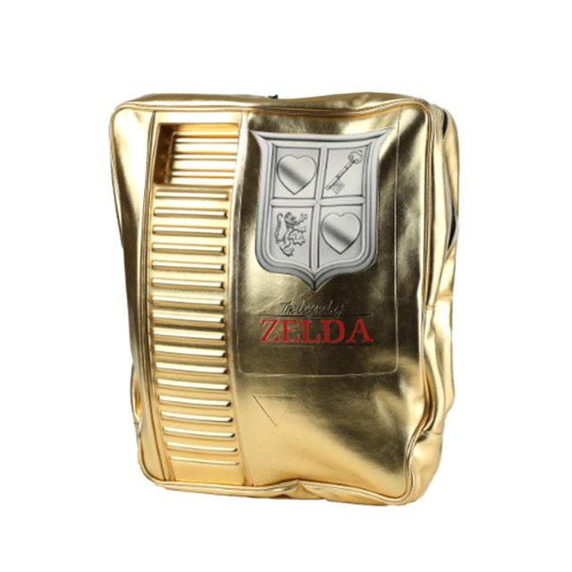 Gold NES Zelda Cartridge Backpack