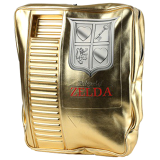 Gold NES Zelda Cartridge Backpack