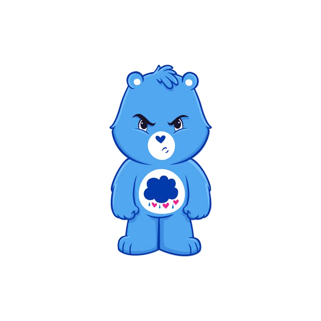 Grumpy Care Bear sticker