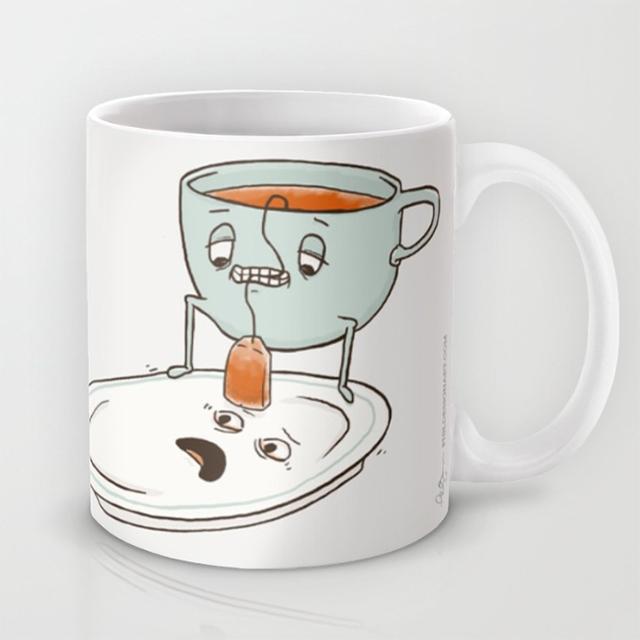 Прикольные чашки рисунки