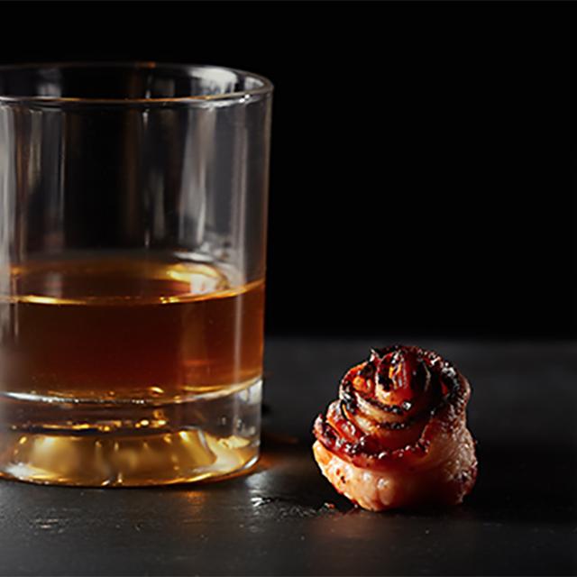 Bourbon Barrel Aged Bacon Roses