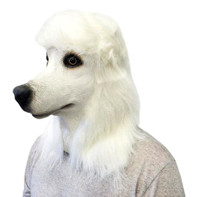 Creepy Realistic Poodle Mask