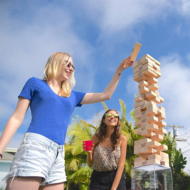 Giant Jenga Drinking Game