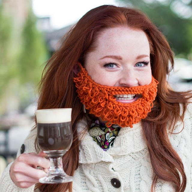 Hand-Knit Redhead Beard