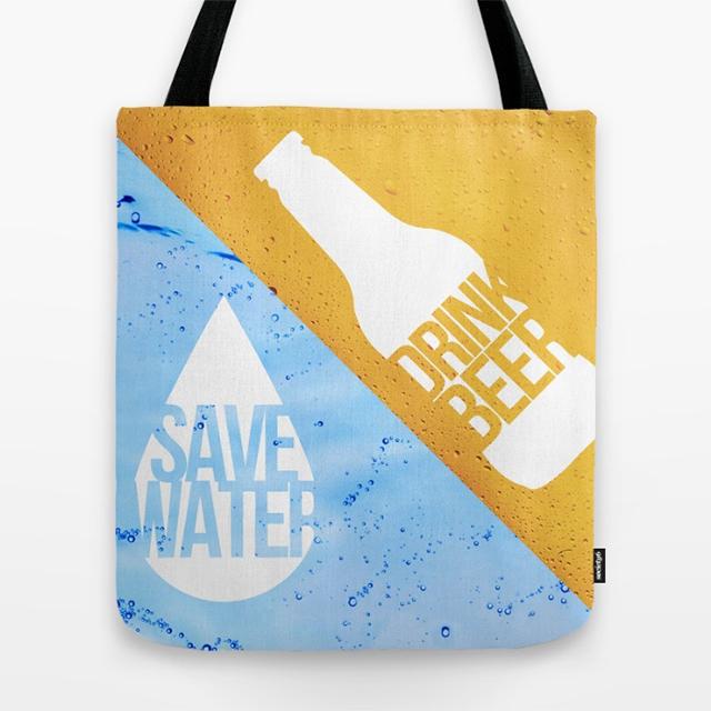 Save Water Drink Beer bag