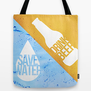 Save Water Drink Beer bag
