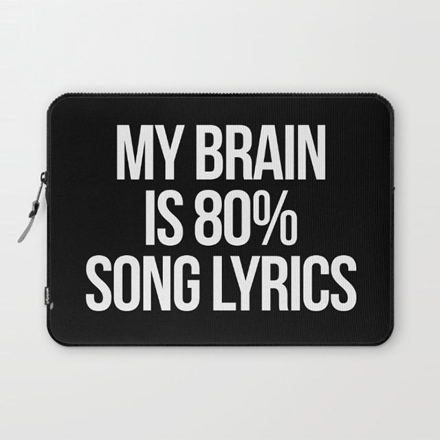 Song Lyrics Laptop Sleeve