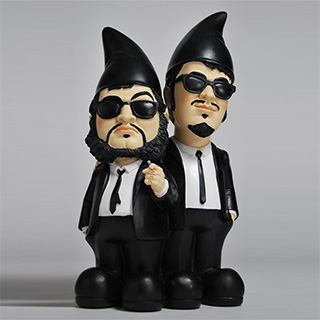 Blues Brothers Garden Gnomes