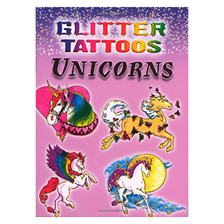 Glittery Unicorn Temporary Tattoos
