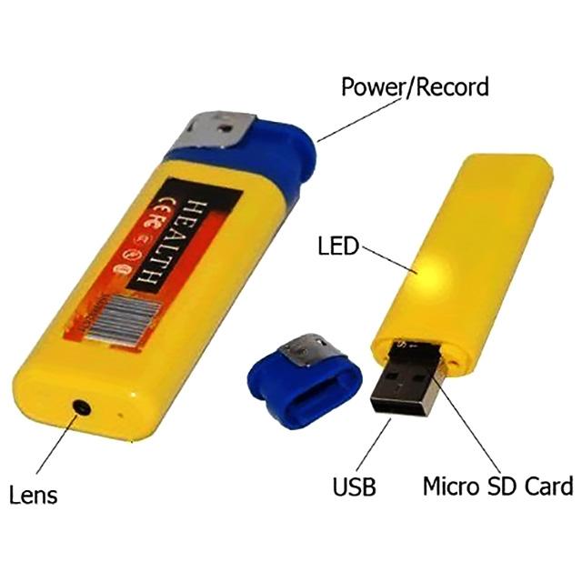 Hidden Camera in Fake Lighter