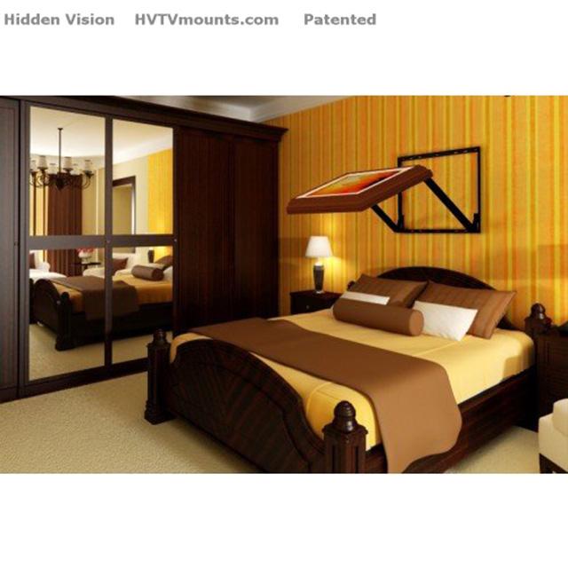 Hidden TV for Bed-Ridden Binge Watching