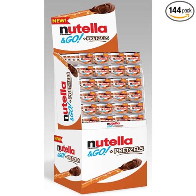 Nutella with Pretzel Sticks