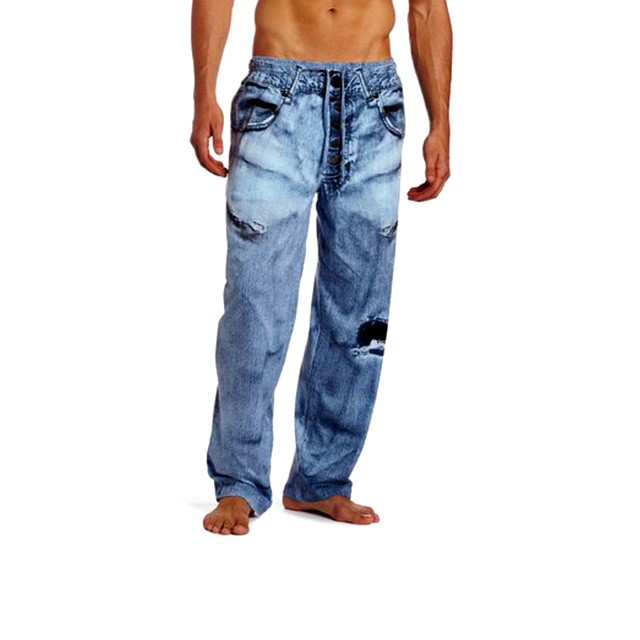 Faux Denim Pajama Pants