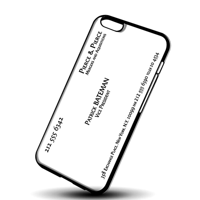 Patrick Bateman Business Card Phone Case