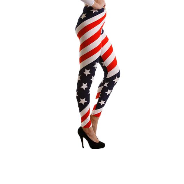 American Flag Striped Leggings