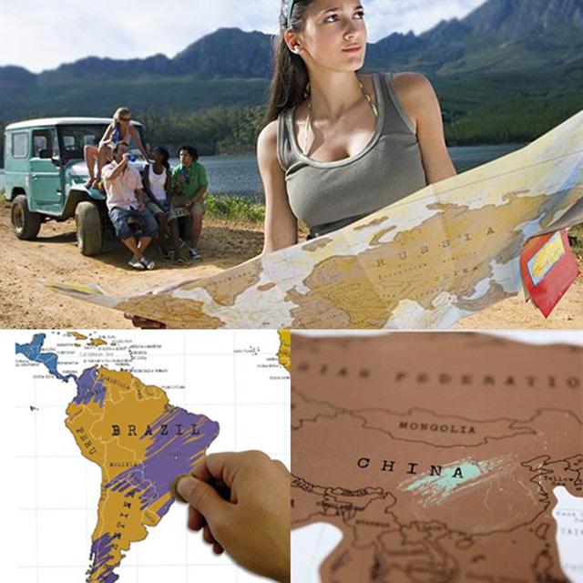 Scratch-Off Travel Map