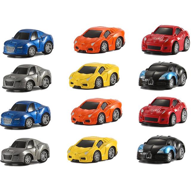 12 Mini Pullback Race Cars