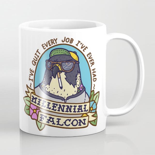 Millennial Falcon Mug