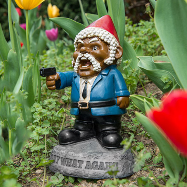 Pulp Fiction-Inspired Garden Gnome