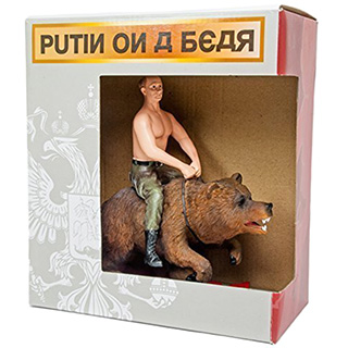 Putin on a Bear Figure