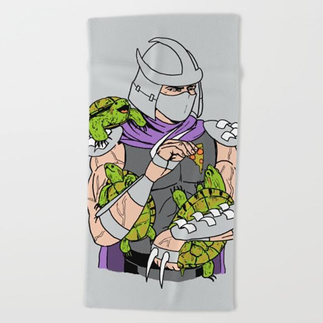 Shredder and Friends Beach Towel