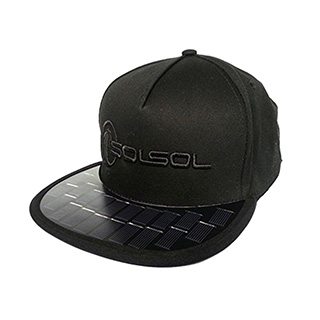 Solar Panel Phone Charger Hat