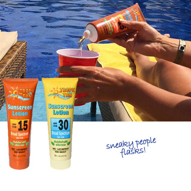 Sunscreen Bottle Flasks