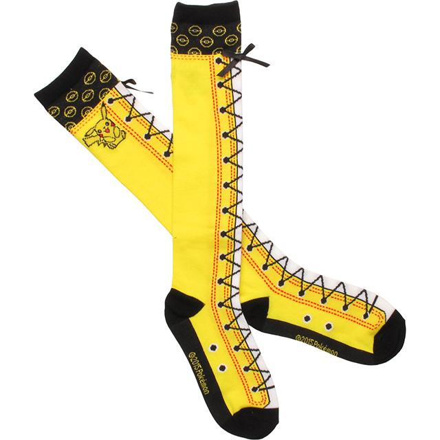 Faux Lace-Up Pikachu Knee Socks