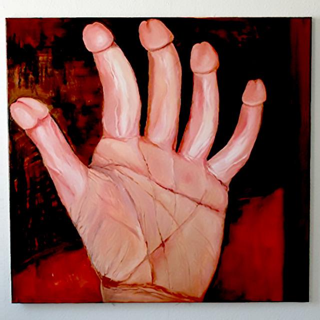 Penishand Oil Painting