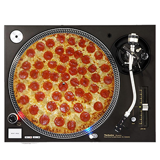 Pizza Slipmat for Turntable