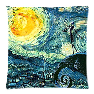Starry Nightmare Before Christmas Pillow Cover