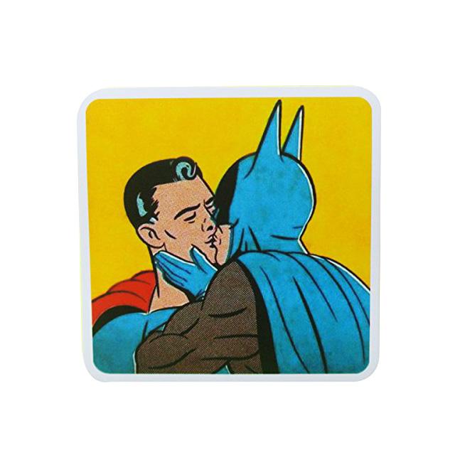Batman Kissing Superman Sticker