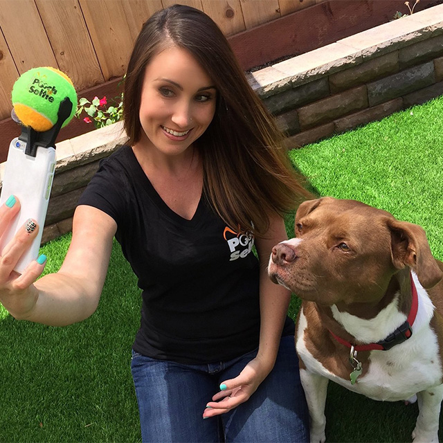 Dog Selfie Ball Attachment