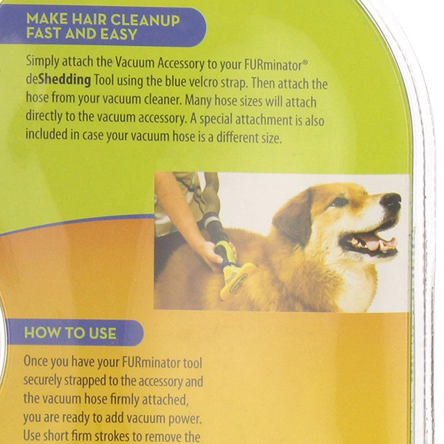 Grooming Brush Vacuum Attachment