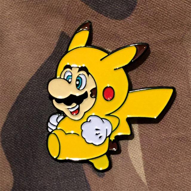 Mario Pikachu Cosplay Pin